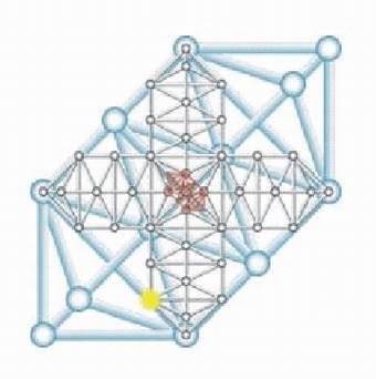 obr. Holografická - fraktálová mřížka manifestovaných struktur