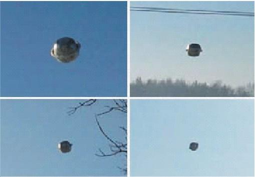 Tyto snímky UFO byly pořízeny v Polsku