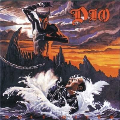 Obal platne heavy metalovej skupiny DIO. Je Satan tiež fanúšikom Longorns?