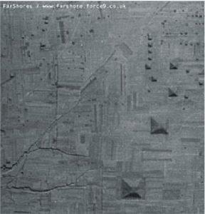 Satelitní obrázek střední Číny s pyramidami