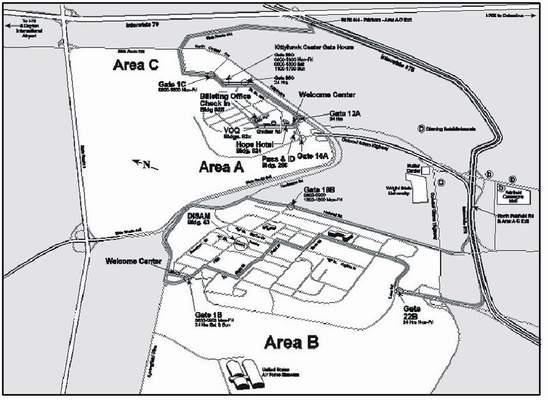 mapa leteckej základne Wright-Patterson