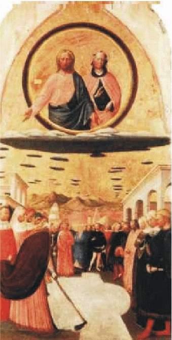 15) Ježiš, Mária a flotila UFO, začiatok 15.stor., Taliansko