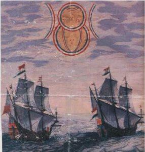 20) Pozorovanie UFO holandskými loďami r.1660