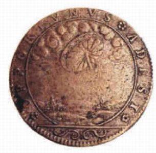 25) Francúzsky žetón so zobrazním UFO 1680