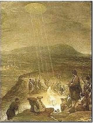 3a) Plamenné štíty ktoré sa objavili počas obliehania Sigiburgu