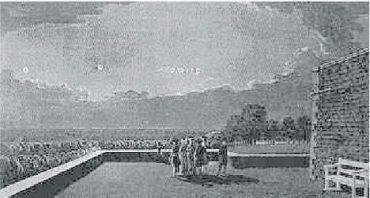 30) Pozorovanie UFO z terasy Windsorského Zámku, 1783
