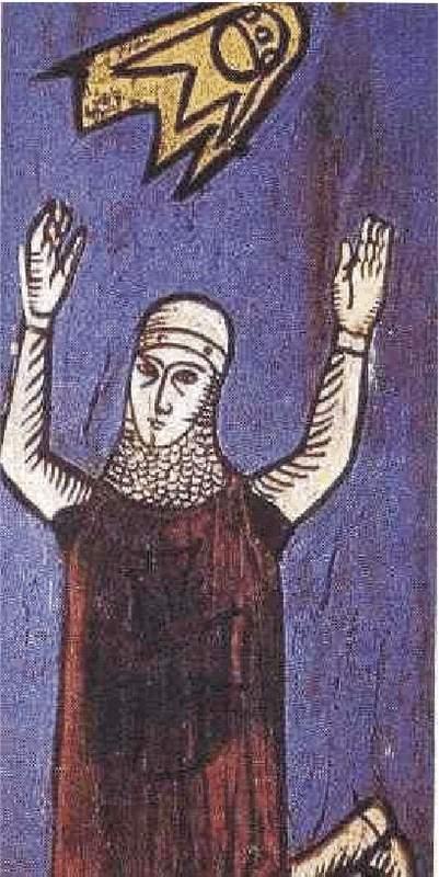 3b) Plamenné štíty ktoré sa objavili počas obliehania Sigiburgu