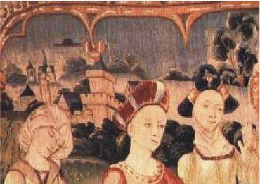7a) Gobelín z 15. storočia Notre-Dame