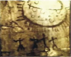 9) petroglyf Querato, Mexico