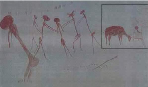 3b. Jaskynná maľba Tanzánia
