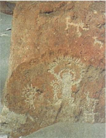 5a) Skalné maľby Toro Muerto, Peru