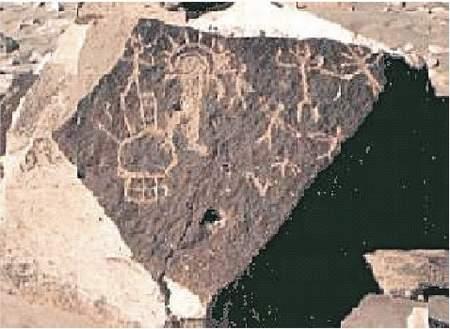 5b) Skalné maľby Toro Muerto, Peru