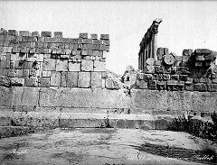 Baalbek, triliton v masivní západní opěrné zdi