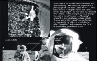 Analýza snímku přilby astronauta Pete CONRADA s odrazem záhadného objektu