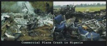Pád komerčního letadla v Nigérii